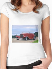 1932 Ford 'Classic Hot Rod' Roadster Women's Fitted Scoop T-Shirt