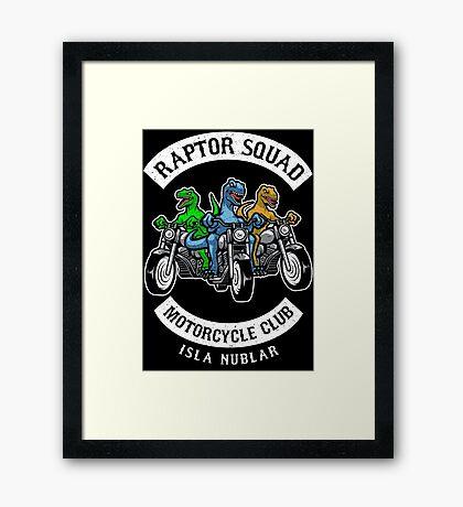 Jurassic Raptor Squad World Framed Print