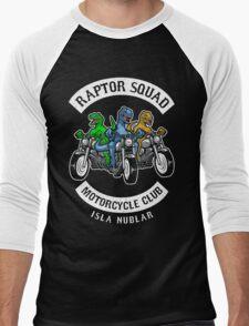 Jurassic Raptor Squad World Men's Baseball ¾ T-Shirt