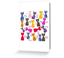 Cats pattern Greeting Card