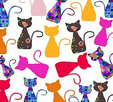 Cats pattern by luizavictorya72