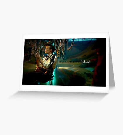 Eleventh doctor Optimist  Greeting Card