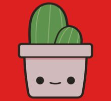 Cactus in cute pot Kids Clothes