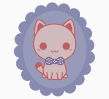 Kawaii kitty with bow Kids Clothes