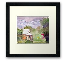 A Stormy Sky In The Creek Framed Print