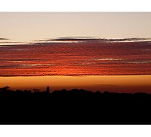 Rippled sunset Photographic Print