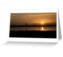 Windmill sunset! Greeting Card