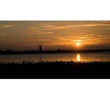 Windmill sunset! Photographic Print
