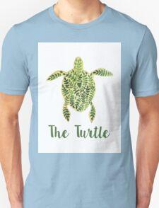 Patterned floral watercolor turtle illustration T-Shirt