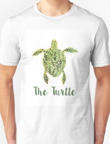 Patterned floral watercolor turtle illustration Unisex T-Shirt