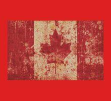 Canadian grunge flag - Canada One Piece - Long Sleeve