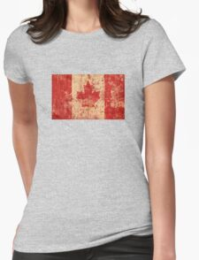 Canadian grunge flag - Canada Womens Fitted T-Shirt