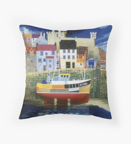 Aspects of East Neuk Throw Pillow