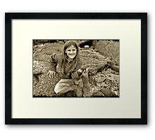 Treasure seeker Framed Print