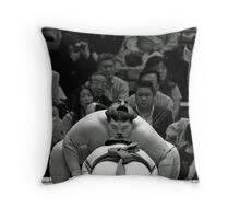 Sumo Psyche Out Throw Pillow