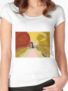 Invisible Beach Cruiser Women's Fitted Scoop T-Shirt