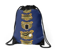 Tiger Buttons Drawstring Bag