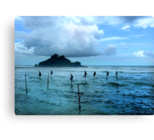 Stilt Fishing - Midigama Canvas Print