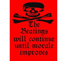 Pirate Morale, Skull & Crossbones, Buccaneers, Me Harties! Photographic Print