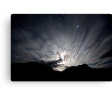 Moon Stream - Startrails version Canvas Print