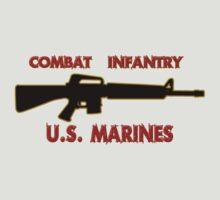 Combat Infantry - U.S. Marines     Semper Fi T-Shirt