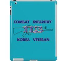 11Bravo - Combat Infantry - Korea Veteran iPad Case/Skin