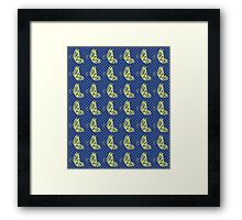 Fluttering Butterflies - Yellow Blue And Green Framed Print