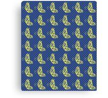 Fluttering Butterflies - Yellow Blue And Green Canvas Print