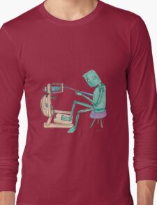 Spinning Robot Long Sleeve T-Shirt