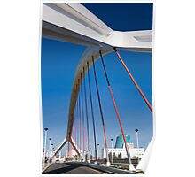 Barqueta Bridge, Sevilla, Spain Poster