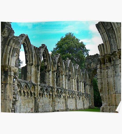 St Marys Ruins - Museum Gardens York Poster