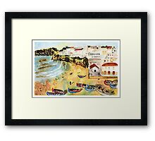 Portuguese town Framed Print
