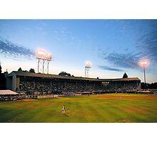 Civic Stadium sunset Photographic Print