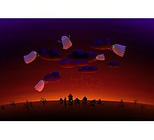 The Gathering Storm - Halloween Night Photographic Print