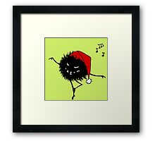 Evil Christmas Bug T-Shirt Framed Print