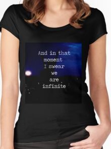 We Are Infinite--The Perks of Being a Wallflower Women's Fitted Scoop T-Shirt