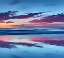 Purple Clouds on a Blue Beach by David Alexander Elder