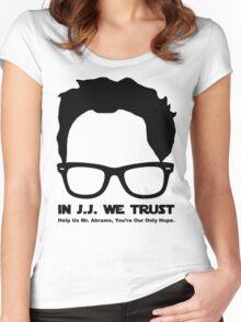 In J.J. We Trust - Stencil Women's Fitted Scoop T-Shirt