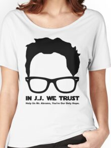In J.J. We Trust - Stencil Women's Relaxed Fit T-Shirt