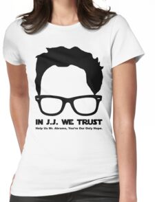 In J.J. We Trust - Stencil Womens Fitted T-Shirt
