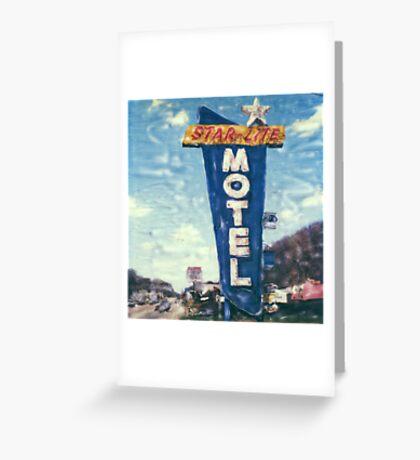 Star-Lite Motel Greeting Card