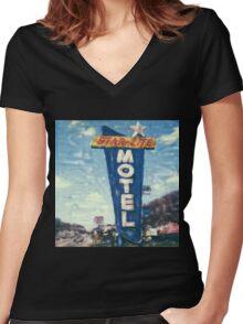 Star-Lite Motel Women's Fitted V-Neck T-Shirt