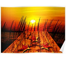 Autumn Sunset Poster
