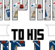 Companion to his time lord Sticker