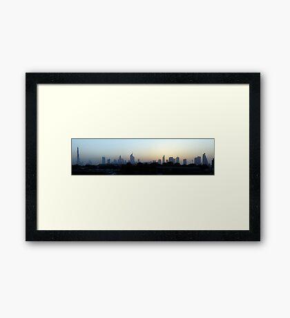 Dubai at sunset Framed Print