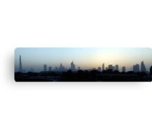 Dubai at sunset Canvas Print