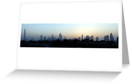 Dubai at sunset by AravindTeki