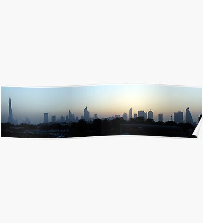 Dubai at sunset Poster