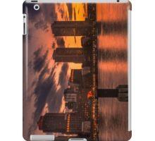Red sun-dusk in Boston, MA  iPad Case/Skin