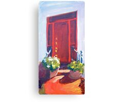 Red Door South Street, Easton Canvas Print